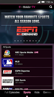 T-Mobile TV with Mobile HD - screenshot thumbnail