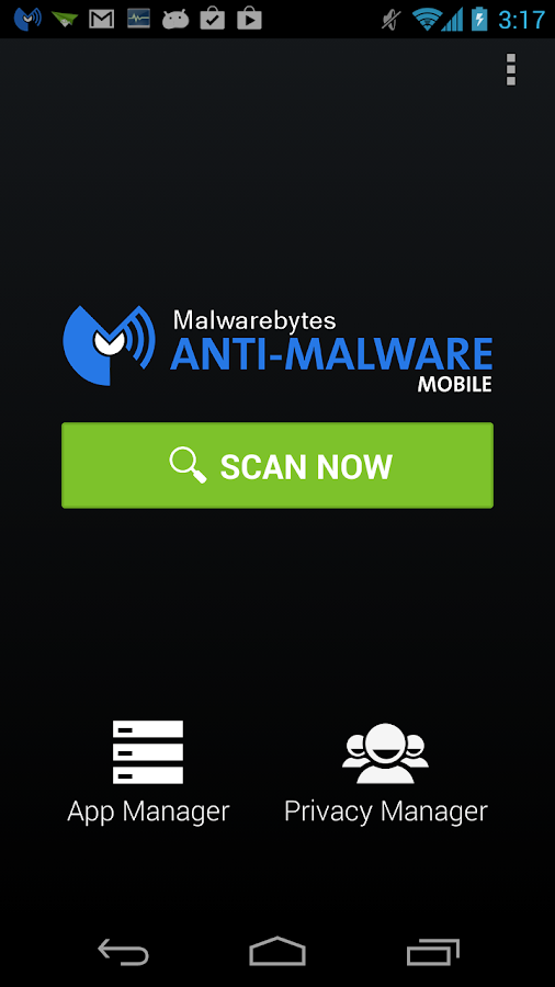 Malwarebytes Anti-Malware - screenshot