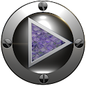 poweramp skin purple snake icon