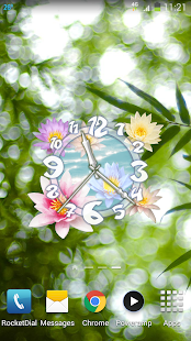Flower Clock Live Wallpaper - screenshot thumbnail