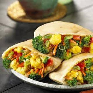 Peanut Vegetable Curry Wraps.