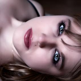 Sam by Riaan Www.rampix.co.uk - People Body Parts ( face, boudoir photography, blonde, rampix photography, eyes,  )