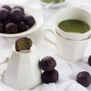 Chocolate Covered Matcha Green Tea Energy Bites