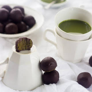 Chocolate Covered Matcha Green Tea Energy Bites.