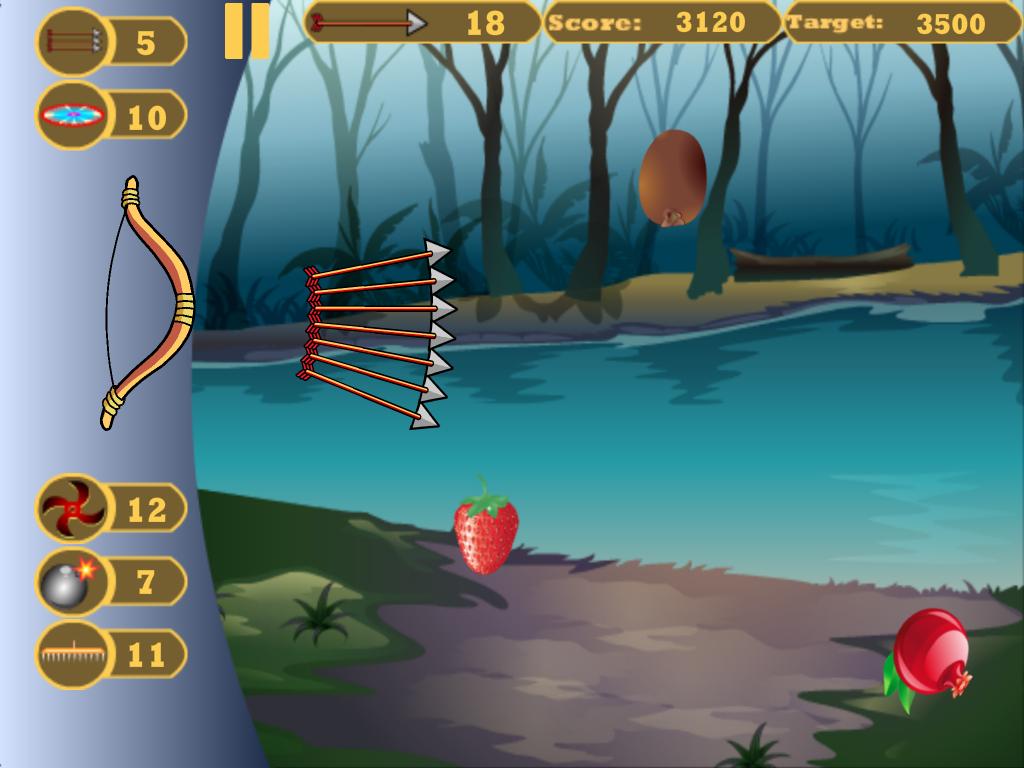 Fruit shoot game - Shoot Fruits Bow Arrow Game Screenshot
