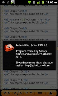 Android Web Editor PRO - screenshot thumbnail
