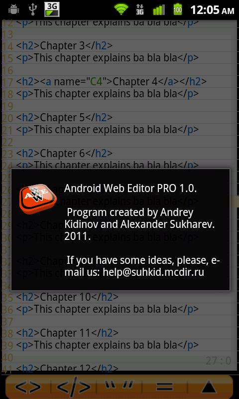 Android Web Editor PRO - screenshot