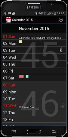 Calendar 2016 3.1 screenshot 410732