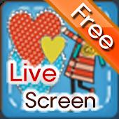 하트 내리는 앱(라이브 스크린 사랑 테마)