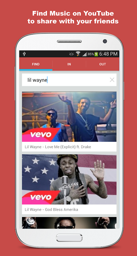 Share Music Messaging - screenshot