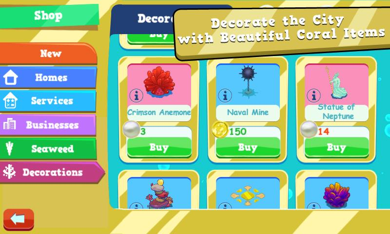Coral City FUN addicting game - screenshot