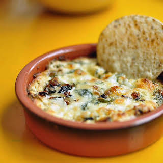 Mushroom and Goat Cheese Queso.
