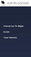 Screenshot of Kur'an-ı Kerim Çözümü