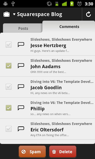 Screenshots for Squarespace for Android