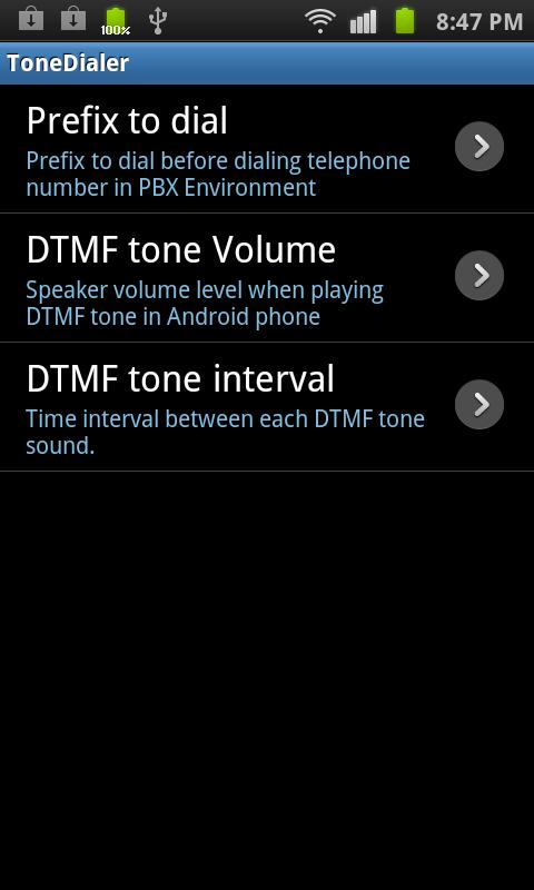 DTMF tone Dialer - screenshot