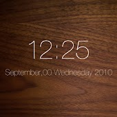 WALNUT Clock Live Wallpaper