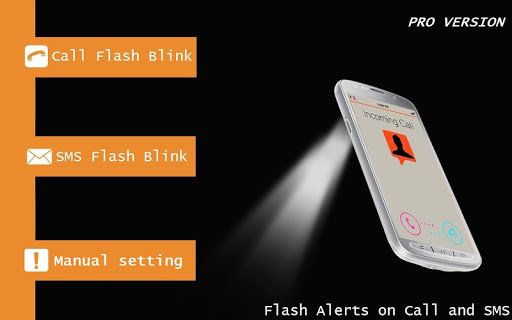 Flash Alerts on Call SMS PRO