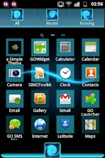 GO Theme Launcher EX Blue- screenshot thumbnail
