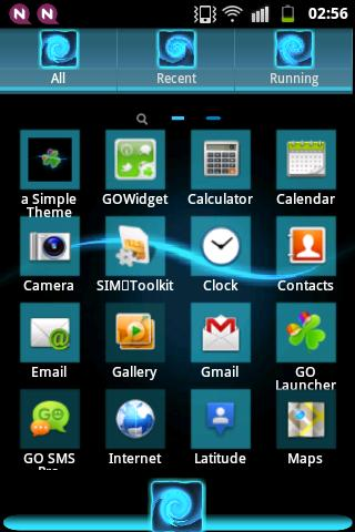 GO Theme Launcher EX Blue - screenshot