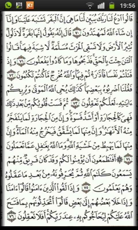 Quran Kareem No Border Pages - screenshot