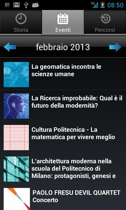 Polimi150 - screenshot