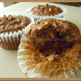 Sugar Free Banana and Apple Muffins.