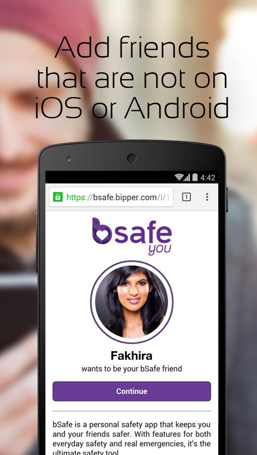 bSafe - Personal Safety App - screenshot