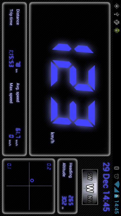 Droid Dashboard (Blue)- screenshot