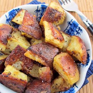 Roasted Mustard Potatoes.