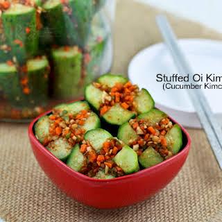 Stuffed Oi Kimchi (Cucumber Kimchi).