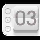 Flip Clock 3D UCCW Skin icon