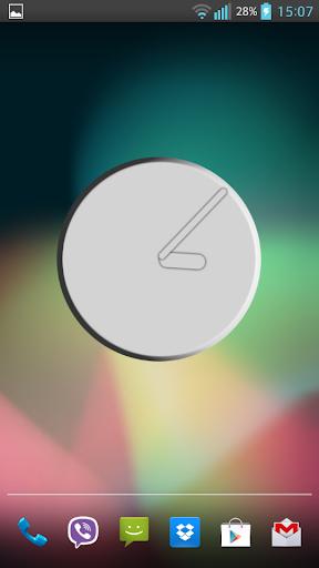 Silver Clock Widget