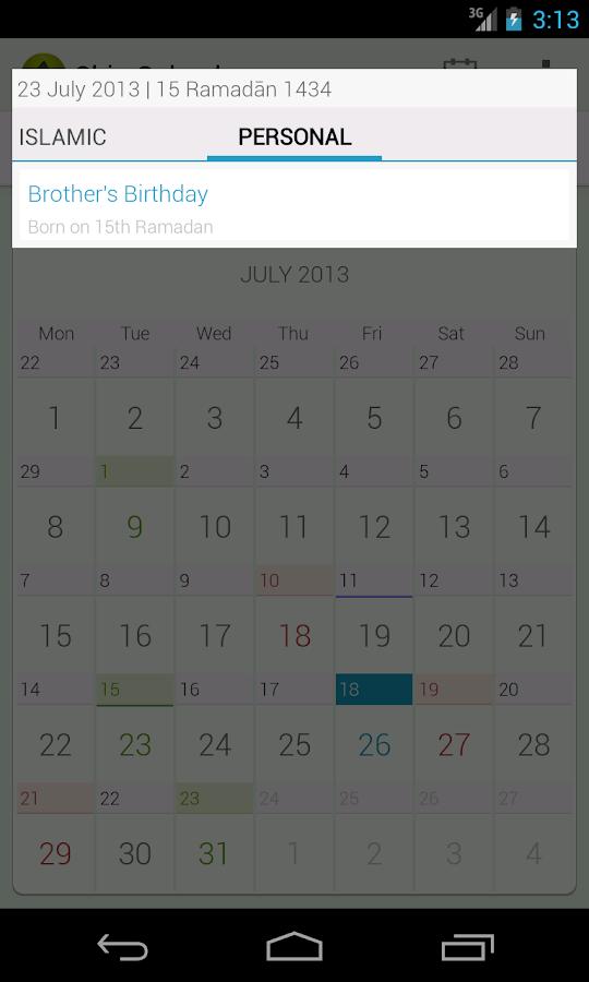 Shia Calendar - screenshot