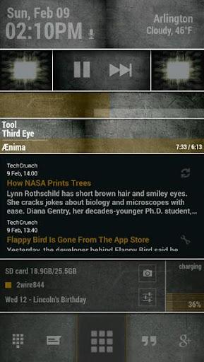 玩個人化App Glance Zooper Skin免費 APP試玩