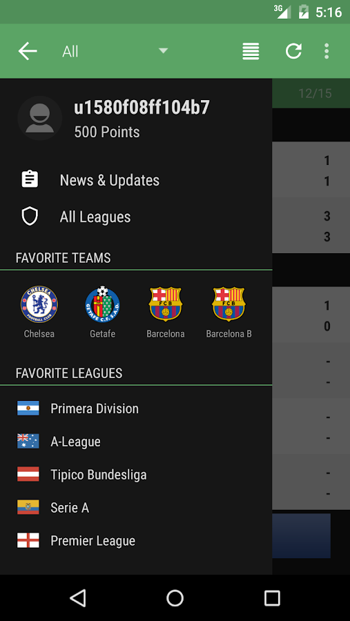 android livescore app