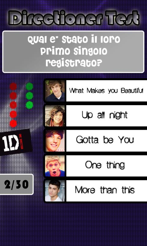 Directioner Test - screenshot