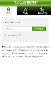 mobileRoots for AccountAccess- screenshot thumbnail