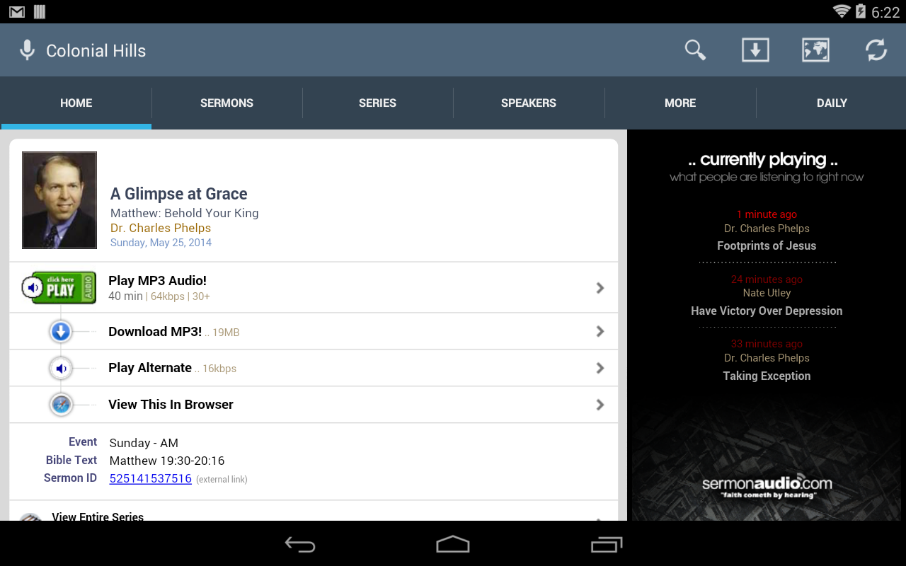 Colonial Hills Baptist Church- screenshot