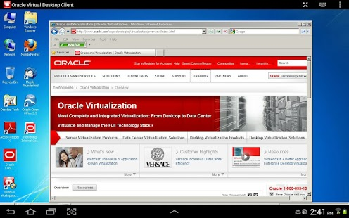 Oracle Virtual Desktop Client - screenshot thumbnail