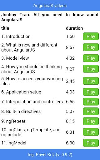 【免費教育App】AngularJS videos-APP點子