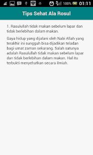 Tips Sehat Ala Rasul- screenshot thumbnail