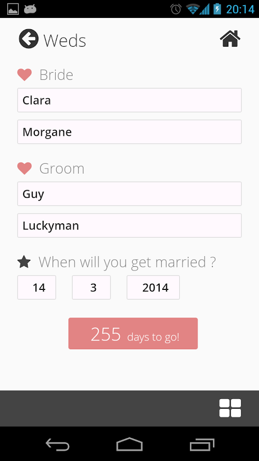 Weddy Free (Wedding Planner)- screenshot