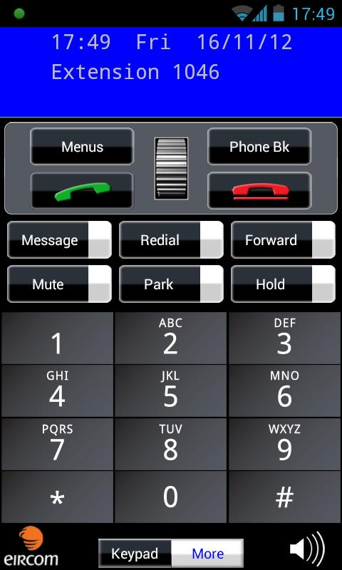 Eircom Advantage Softphone - screenshot