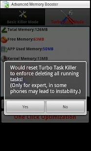 Turbo Task Killer - screenshot thumbnail