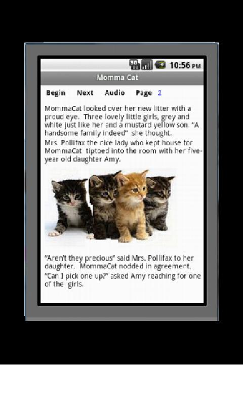 Momma Cat - children's book- screenshot