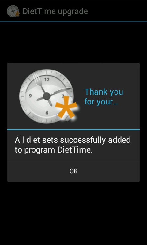 DietTime All Diet Sets- screenshot
