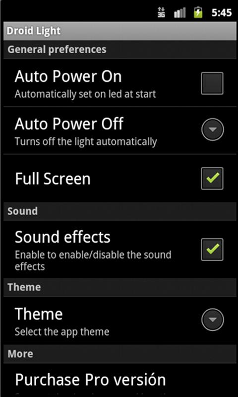 Droid Lantern Free - screenshot
