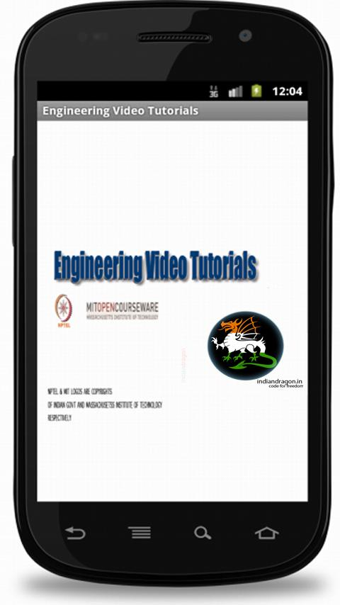 Engineering Video Tutorials - screenshot