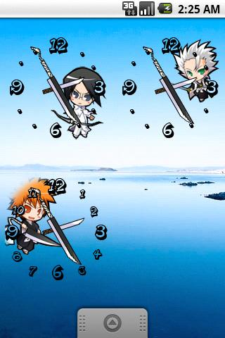Bleach Chibi Analog Clock - screenshot