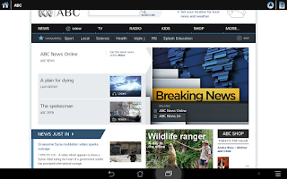 Screenshot of News Selection Newspapers